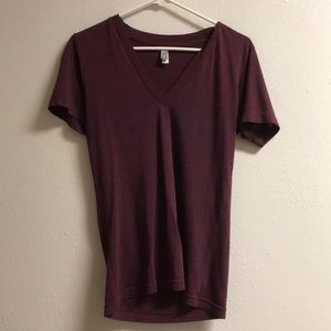 Maroon The Track Shirt. Short sleeved t